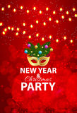 Abstract Beauty Merry Christmas and New Year Party Background. With Masquerade Carnival Mask. Vector illustration EPS10 Royalty Free Stock Images