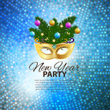 Abstract Beauty Merry Christmas and New Year Party Background. With Masquerade Carnival Mask. Vector illustration EPS10 Stock Images