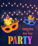 Abstract Beauty Merry Christmas and New Year Party Background wi Stock Images