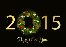 Abstract Beauty 2015 New Year Background. Vector. Illustration. EPS10 Royalty Free Stock Photo