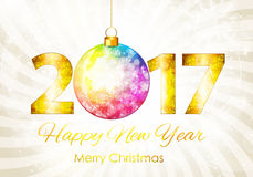 Abstract Beauty 2017 New Year Celebration Poster Background. Vec Stock Photography