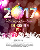 Abstract Beauty 2017 New Year Celebration Poster Background. Vec. Tor Illustration EPS10 Stock Photos