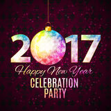 Abstract Beauty 2017 New Year Celebration Poster Background. Vec. Tor Illustration EPS10 Stock Illustration