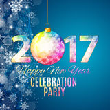 Abstract Beauty 2017 New Year Celebration Poster Background. Vec Stock Image
