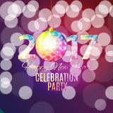 Abstract Beauty 2017 New Year Celebration Poster Background. Vec. Tor Illustration EPS10 Vector Illustration
