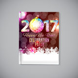 Abstract Beauty 2017 New Year Celebration Poster Background. Vec. Tor Illustration EPS10 Royalty Free Stock Photography