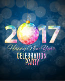 Abstract Beauty 2017 New Year Celebration Poster Background. Vector Illustration. EPS10 Royalty Free Stock Photos