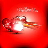 Beautyful heart background. Abstract beautyful heart with shiny red color background Stock Photography