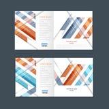 Abstract bedrijfs vierkant brochureontwerp Het moderne malplaatje van de lijndekking Royalty-vrije Stock Fotografie