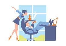 Abstract bedrijfsconcept het bureauleven Stock Afbeelding
