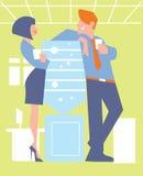 Abstract bedrijfsconcept het bureauleven Stock Afbeeldingen