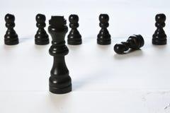 Abstract bedrijfsconcept met Koningsschaakstukken Stock Fotografie