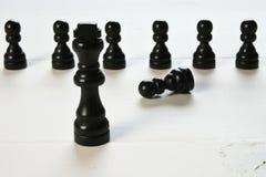 Abstract bedrijfsconcept met Koningsschaakstukken Royalty-vrije Stock Afbeelding