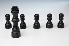Abstract bedrijfsconcept met Koningsschaakstukken Stock Afbeelding
