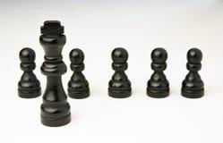 Abstract bedrijfsconcept met Koningsschaakstukken Stock Foto