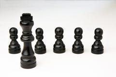 Abstract bedrijfsconcept met Koningsschaakstukken Royalty-vrije Stock Foto