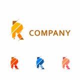 Abstract bedrijfsembleem met de brief R Stock Afbeeldingen