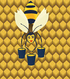 Abstract bee. Abstract bee, EPS8 - graphics stock illustration