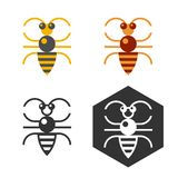 Abstract bee flat vector element. vector illustration