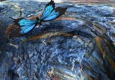 Abstract beeld: de vlucht van een vlinder het 3d teruggeven vector illustratie