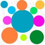 Abstract beeld met gekleurde cirkels Stock Fotografie