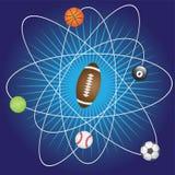 Abstract beeld met sportspelen. Stock Foto's