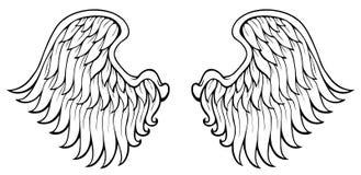 Abstract beeld met vleugels 4 royalty-vrije illustratie
