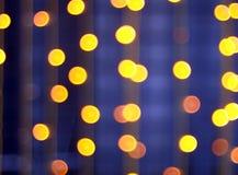 Abstract beeld - ronde, geel en rode lichten Stock Afbeeldingen
