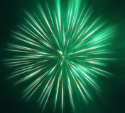 Abstract beeld, vaag groen vuurwerk Stock Foto