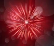 Abstract beeld, vaag vuurwerk Stock Afbeelding