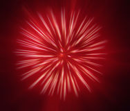 Abstract beeld, vaag vuurwerk Stock Foto's