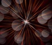 Abstract beeld, vaag vuurwerk Stock Foto