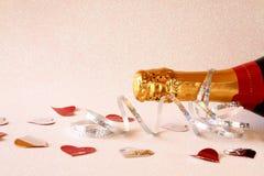 Abstract beeld van champagnefles Royalty-vrije Stock Afbeelding