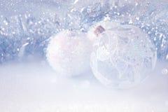 abstract Beeld van de baldecoratie van de Kerstmis feestelijke boom Royalty-vrije Stock Afbeelding