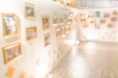abstract beeld van de hal van een modern kunstcentrum Stock Foto's