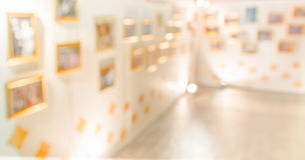 abstract beeld van de hal van een modern kunstcentrum Royalty-vrije Stock Afbeelding