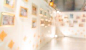 abstract beeld van de hal van een modern kunstcentrum Stock Afbeeldingen