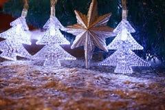 Abstract beeld van de lichten van de Kerstboomslinger Royalty-vrije Stock Foto's