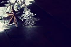 Abstract beeld van de lichten van de Kerstboomslinger Stock Afbeeldingen