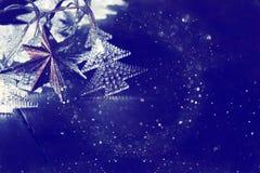 Abstract beeld van de lichten van de Kerstboomslinger Stock Fotografie