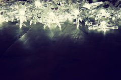 Abstract beeld van de lichten van de Kerstboomslinger Royalty-vrije Stock Foto