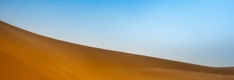 Abstract beeld van de oppervlakte van een hellend duin in de Sahara in de Soedan royalty-vrije stock fotografie