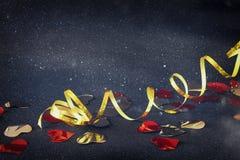 Abstract beeld van decoratie van het Kerstmis de feestelijke lint Royalty-vrije Stock Afbeelding
