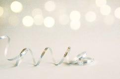 Abstract beeld van decoratie van het Kerstmis de feestelijke lint Stock Afbeelding