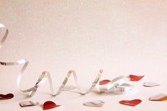 Abstract beeld van decoratie van het Kerstmis de feestelijke lint Stock Foto