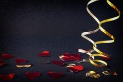 Abstract beeld van decoratie van het Kerstmis de feestelijke lint Royalty-vrije Stock Fotografie