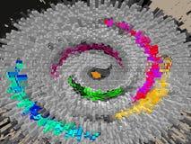 Abstract beeld van draaikolk van patronen en kleuren royalty-vrije stock foto's