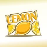 Abstract beeld van een citroen royalty-vrije illustratie