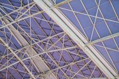 Abstract beeld van een deel van de futuristische dakstructuur Stock Afbeeldingen
