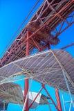 Abstract beeld van een deel van de futuristische dakstructuur Royalty-vrije Stock Foto's
